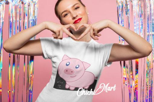 Pink Piggy, Women's T-shirt - chichimart