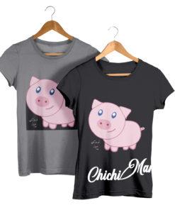 Pink Piggy, Kid's Tee - chichimart