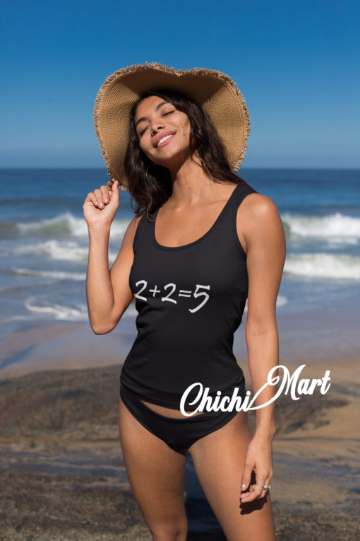 2+2 =5 Black Tank Top - chichimart