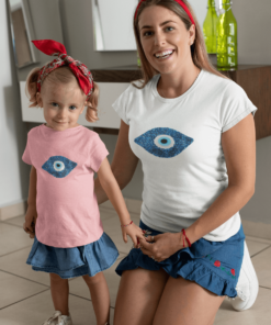 evil-eye symbol on t-shirt- Chichimart design