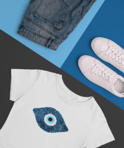 evil-eye symbol on kids t-shirt- Chichimart design